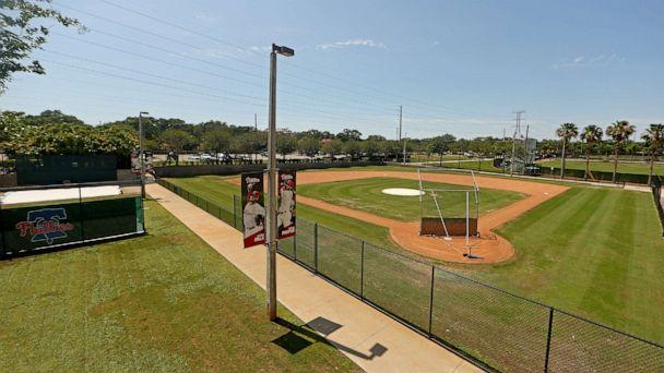 PHOTO: This May 20, 2020, file photo shows a view of Spectrum Field, spring training home of the Philadelphia Phillies in Clearwater, Fla. (Mike Ehrmann/Getty Images, FILE)
