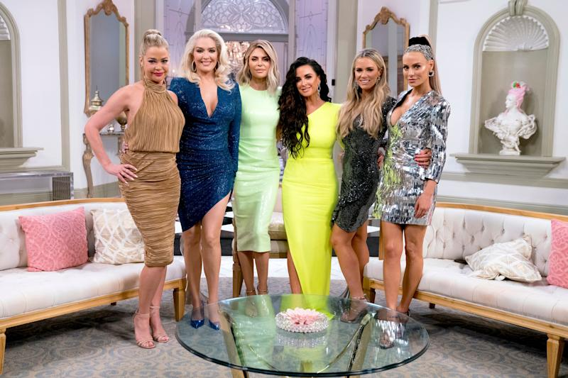 Cast of Real Housewives of Beverly Hills at Season 9 reunion