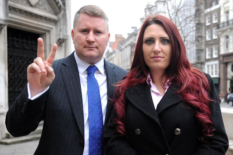 Jailed: Paul Golding and Jayda Fransen: Nick Ansell/PA
