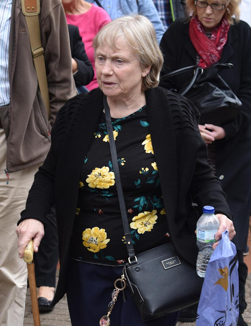 "File photo dated 02/09/19 of Mavis Eccleston who has been cleared at Stafford Crown Court of murder and manslaughter after being accused of the ""mercy killing"" of her husband Dennis."