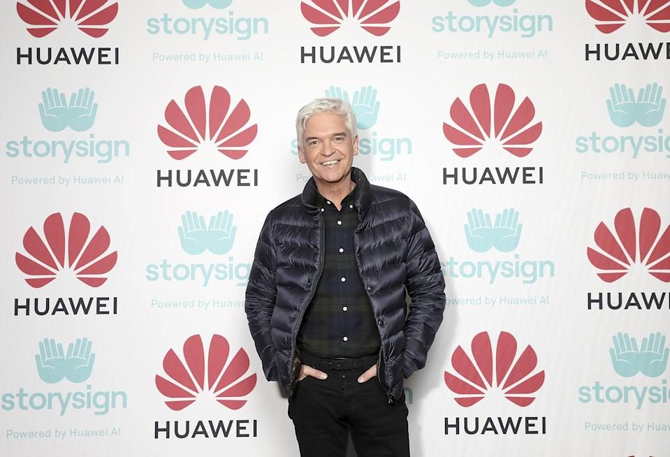 LONDON, ENGLAND - DECEMBER 04:  Phillip Schofield attends Winterland, London for the launch of Huawei's StorySign App with the British Deaf Association on December 4, 2018 in London, England.  (Photo by Tristan Fewings/Getty Images for Huawei)