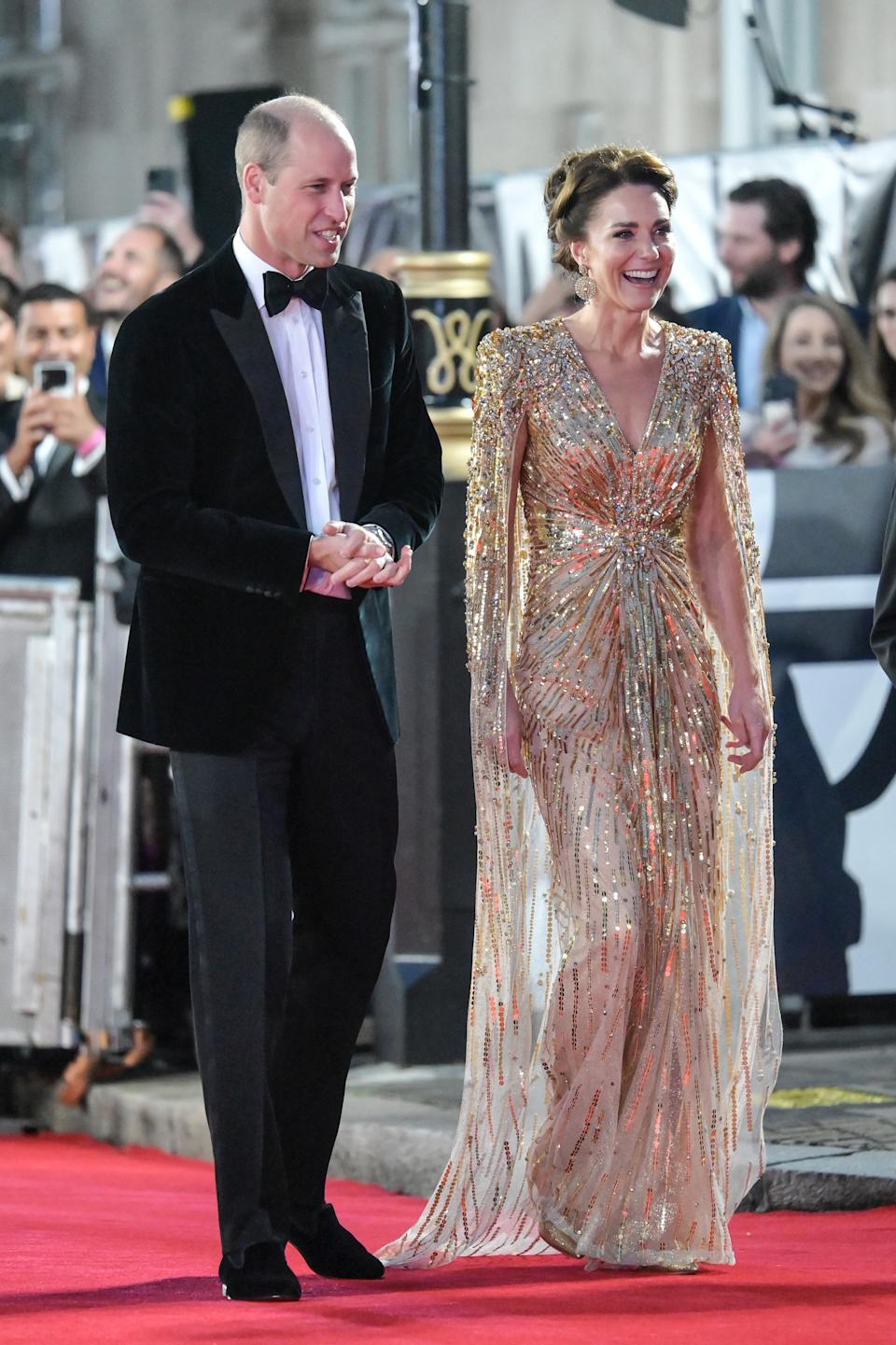 Kate Middleton and Prince William at the James Bond premiere