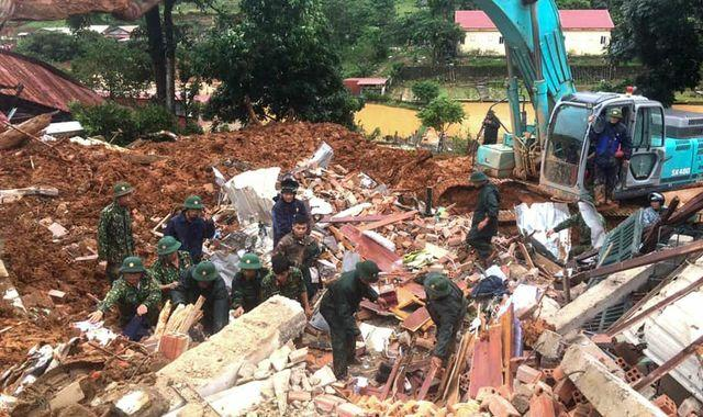 More than 60 missing or killed after landslides in Vietnam and Pakistan