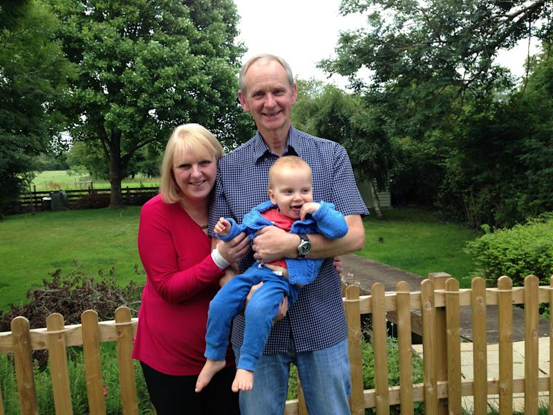Louise and Mark Warneford with their son William. (supplied Louise Warneford)