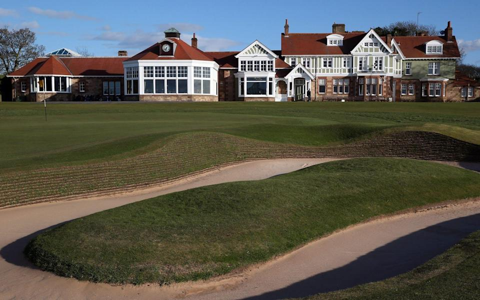 The Club House and the bunker next to the 18th green at Muirfield - Ross Kinnaird/Getty