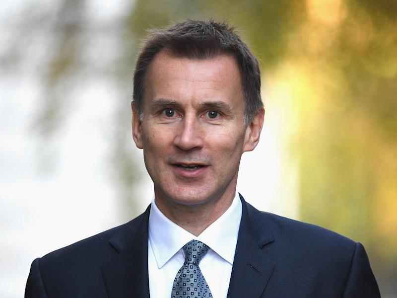 Mr Hunt is the first western foreign minister to visit the country since Donald Trump abandoned the Iran nuclear deal: Getty