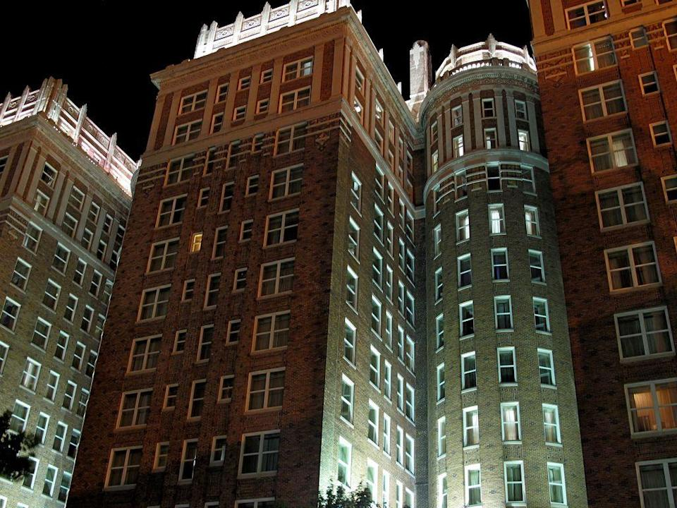"""<p>It's rare that ghost stories and sports lore collide, but that's exactly what's happened at Oklahoma City's oldest hotel, where multiple basketball teams, including the New York Knicks and the Chicago Bulls, have blamed hotel hauntings for unexplained losses.</p><p> </p><p><a class=""""link rapid-noclick-resp"""" href=""""https://go.redirectingat.com?id=74968X1596630&url=https%3A%2F%2Fwww.tripadvisor.com%2FHotel_Review-g51560-d635098-Reviews-The_Skirvin_Hilton_Oklahoma_City-Oklahoma_City_Oklahoma.html&sref=https%3A%2F%2Fwww.countryliving.com%2Flife%2Ftravel%2Fg2689%2Fmost-haunted-hotels-in-america%2F"""" rel=""""nofollow noopener"""" target=""""_blank"""" data-ylk=""""slk:PLAN YOUR TRIP"""">PLAN YOUR TRIP</a></p>"""