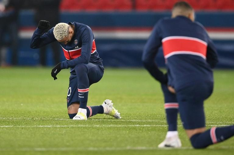 Neymar taking a knee in support of Black Lives Matter before going on to score a hat-trick for PSG against Istanbul Basaksehir