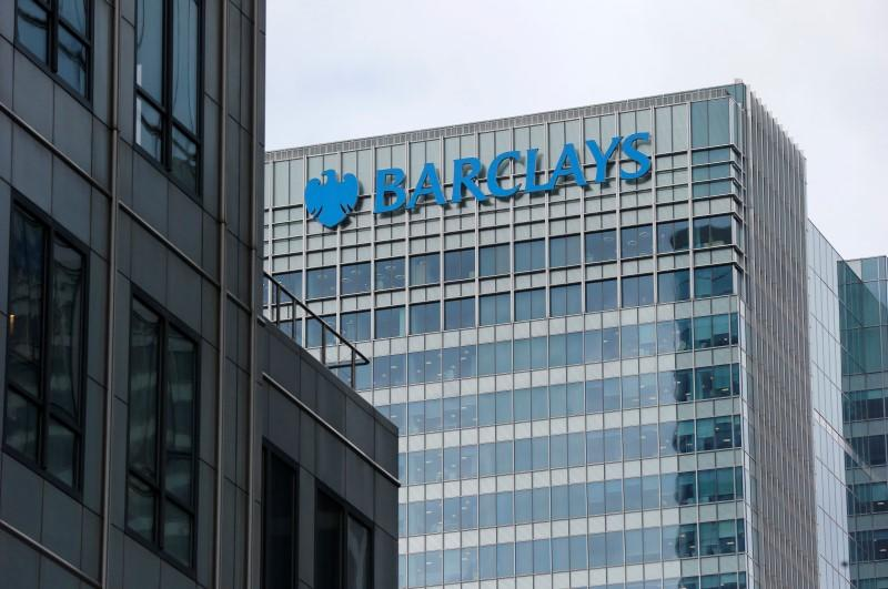 File photo of A Barclays bank office at Canary Wharf in London