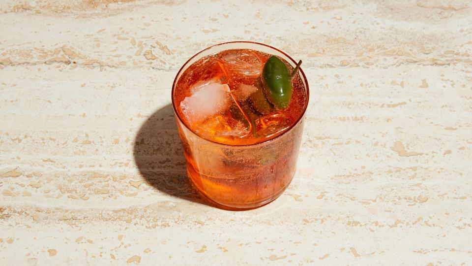 "This classic combo should be credited with starting the whole spritz phenomenon in the United States. <a href=""https://www.bonappetit.com/recipe/aperol-spritz?mbid=synd_yahoo_rss"" rel=""nofollow noopener"" target=""_blank"" data-ylk=""slk:See recipe."" class=""link rapid-noclick-resp"">See recipe.</a>"