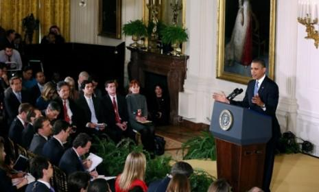 President Obama holds a news conference in the East Room of the White House on Nov. 14: Among other things, the president briefly addressed the David Petraeus affair.