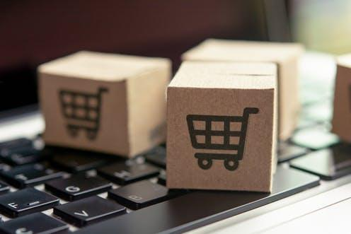 """<span class=""""caption"""">Online shopping and services have grown during COVID-19.</span> <span class=""""attribution""""><a class=""""link rapid-noclick-resp"""" href=""""https://www.shutterstock.com/image-photo/online-shopping-paper-cartons-parcel-cart-1533914615"""" rel=""""nofollow noopener"""" target=""""_blank"""" data-ylk=""""slk:Natee Photo/Shutterstock"""">Natee Photo/Shutterstock</a></span>"""