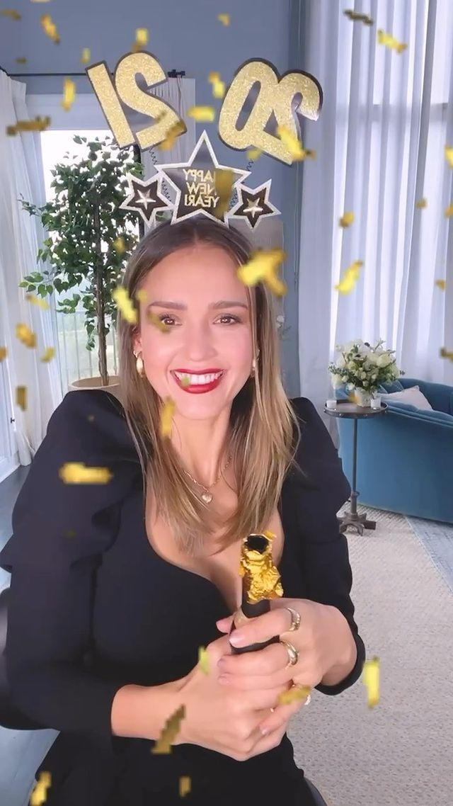 """<p>Out with the old, in with the new.</p> <p>""""Peace out 2020,"""" the star declares in her latest TikTok.</p>"""