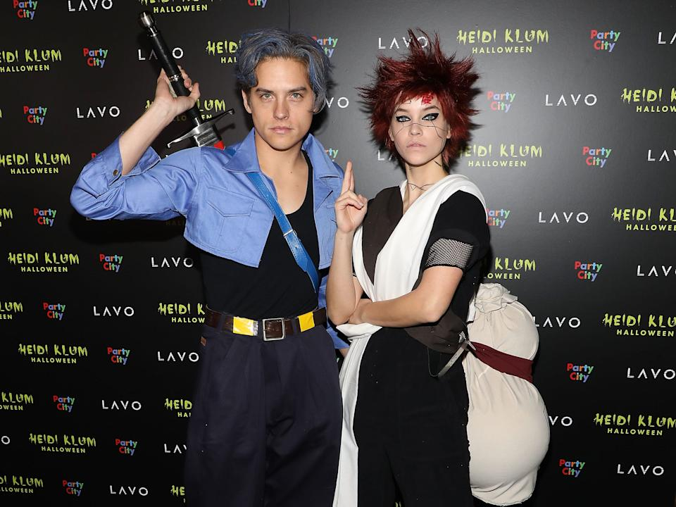 Dylan Sprouse and Barbara Palvin watch anime together.