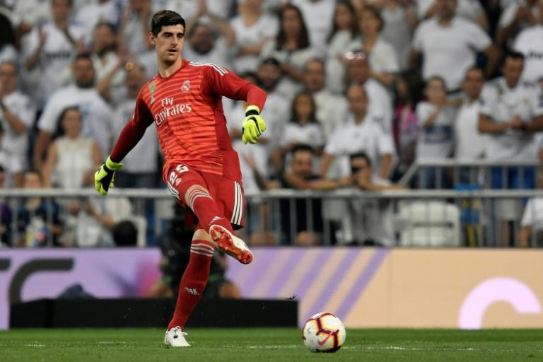 Former Chelsea 'keeper Thibaut Courtois made his Real Madrid debut