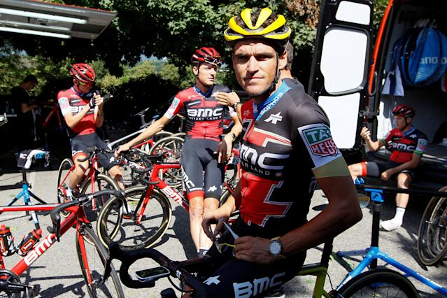 CAPTION CORRECTION - REFILE WITH CORRECTING SPELLING OF NAME Cycling - Tour de France - Rest day - Aix-les-Bains, France, July 16, 2018. BMC Racing Team rider Greg Van Avermaet of Belgium starts a training with team mates. REUTERS/Emmanuel Foudrot