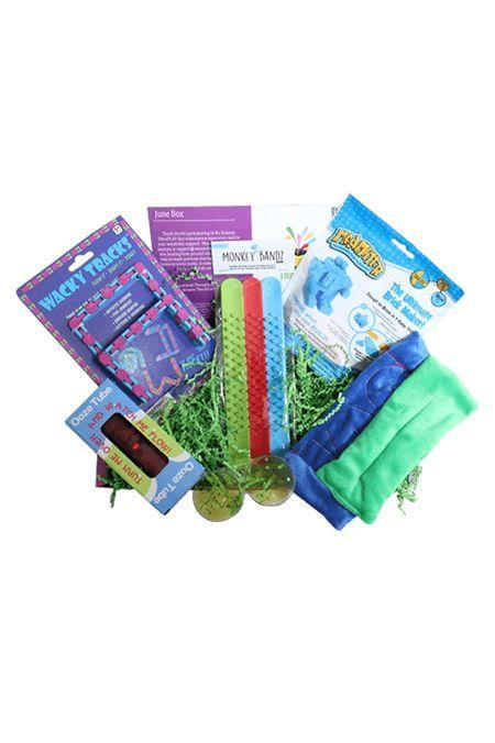 """<p>An occupational therapist created this box of <strong>sensory toys for children</strong> <strong>with developmental delays</strong>, autism spectrum disorders, neurological impairments, and emotional disturbances. The most fun part: SLIME.</p><p><em>$40+ per month<br>Ages: 5–9</em></p><p><a class=""""link rapid-noclick-resp"""" href=""""https://www.sensorytheraplaybox.com/"""" rel=""""nofollow noopener"""" target=""""_blank"""" data-ylk=""""slk:BUY NOW"""">BUY NOW</a></p><p><strong>RELATED: </strong><a href=""""https://www.goodhousekeeping.com/childrens-products/g21596632/autism-toys/"""" rel=""""nofollow noopener"""" target=""""_blank"""" data-ylk=""""slk:The Best Toys for Children With Autism"""" class=""""link rapid-noclick-resp"""">The Best Toys for Children With Autism</a></p>"""