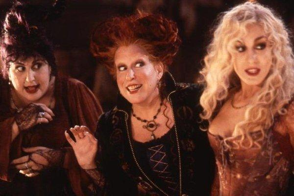 Kathy Najimy, Bette Midler and Sarah Jessica Parker in Hocus Pocus