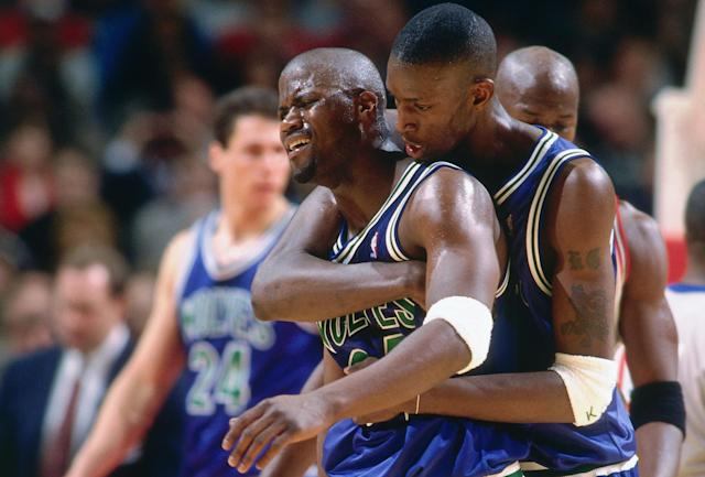 Isaiah Rider's final season in Minnesota coincided with Kevin Garnett's rookie year. (Scott Cunningham/NBAE via Getty Images)