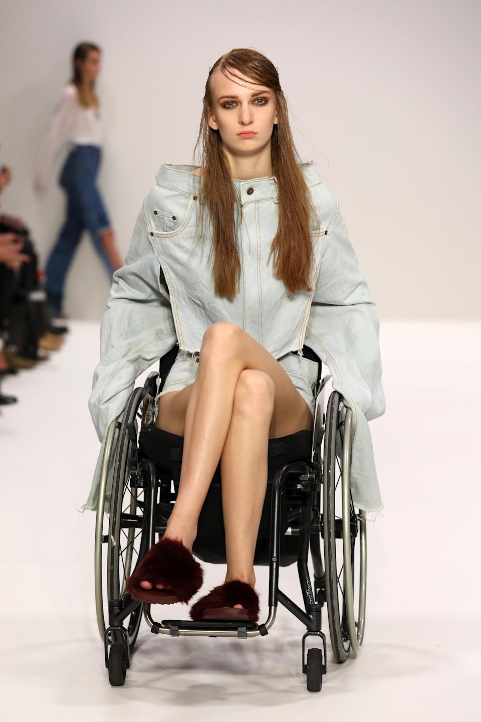 She found that jeans are the hardest thing for disabled people to wear so based her collection on denim [Photo: Getty]