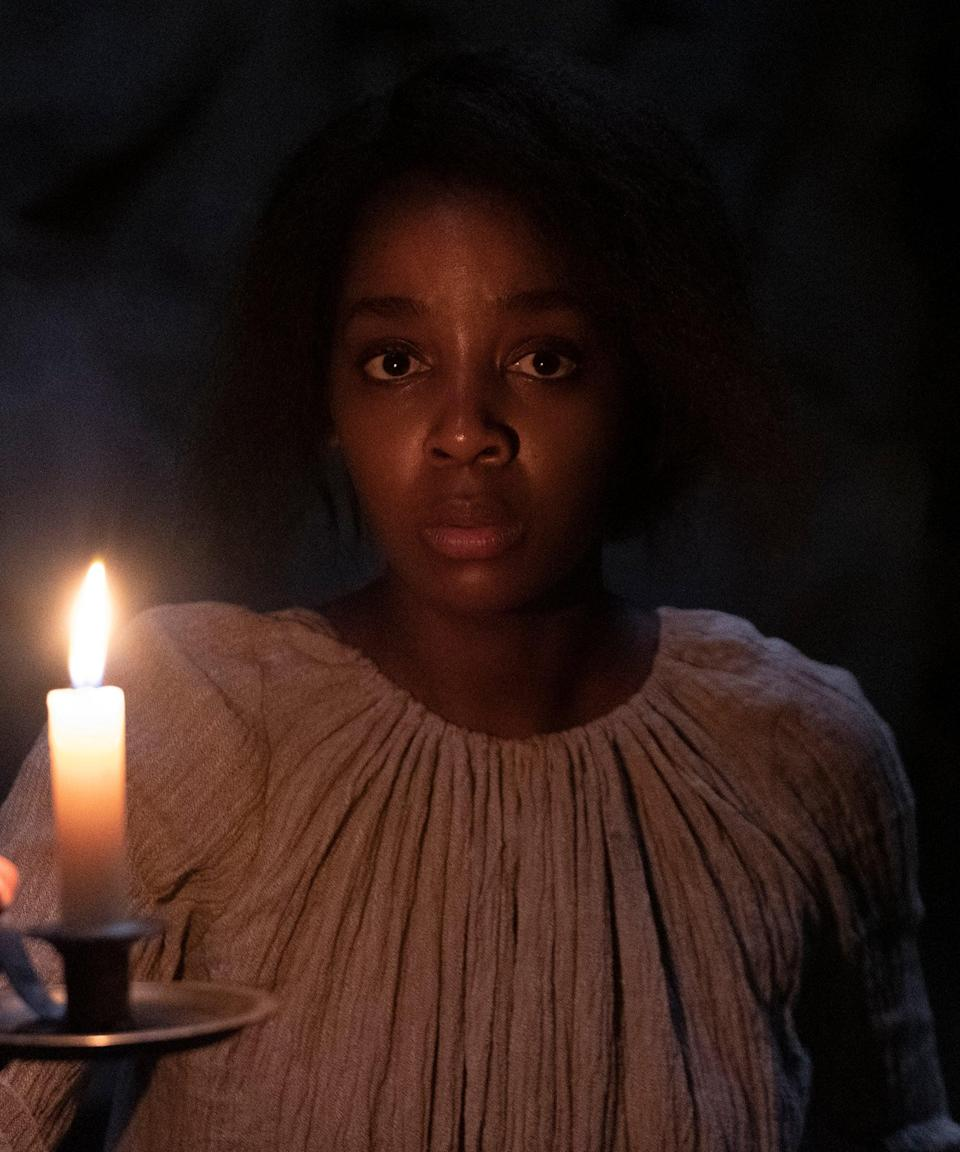 """<h2>Thuso Mbedu plays Cora Randall<br></h2><br>The heroine of <em>The Underground Railroad</em>, Cora initially doesn't see a life for herself beyond the Randall plantation. After her escape with Caesar, however, she begins to envision a life for herself as a free woman far away from <a href=""""https://www.loc.gov/classroom-materials/united-states-history-primary-source-timeline/national-expansion-and-reform-1815-1880/pre-civil-war-african-american-slavery/"""" rel=""""nofollow noopener"""" target=""""_blank"""" data-ylk=""""slk:the Southern U.S."""" class=""""link rapid-noclick-resp"""">the Southern U.S.</a>; the kind of woman her mother Mabel became after she abandoned a young Cora during her escape.<br><br>South African actor Mbedu is largely known for her television work, most notably in the South African series <em>Is'Thunzi,</em> which earned her an International Emmy nomination in 2017.<span class=""""copyright"""">Photo: Courtesy of Amazon Studios.</span>"""