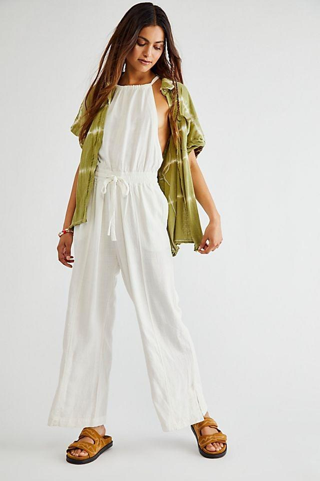 """<br><br><strong>Free People</strong> Clean Linen One-Piece, $, available at <a href=""""https://go.skimresources.com/?id=30283X879131&url=https%3A%2F%2Fwww.freepeople.com%2Fshop%2Fclean-linen-one-piece%2F%3Fcategory%3Dsale-all%26color%3D010%26type%3DREGULAR%26quantity%3D1"""" rel=""""nofollow noopener"""" target=""""_blank"""" data-ylk=""""slk:Free People"""" class=""""link rapid-noclick-resp"""">Free People</a>"""