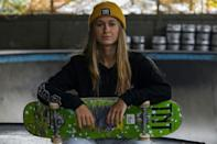 Dora Varella was one of the only girls at the skate park when she started 10 years ago (AFP/Miguel SCHINCARIOL)
