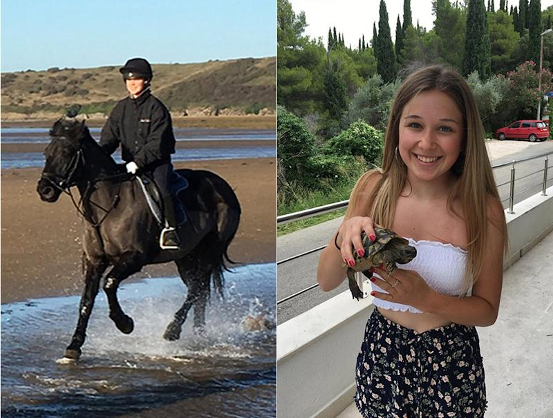 "Ellie's family described the keen horse rider as ""a kind, caring young lady with a wonderful, fun personality"". (Pictures: PA)"