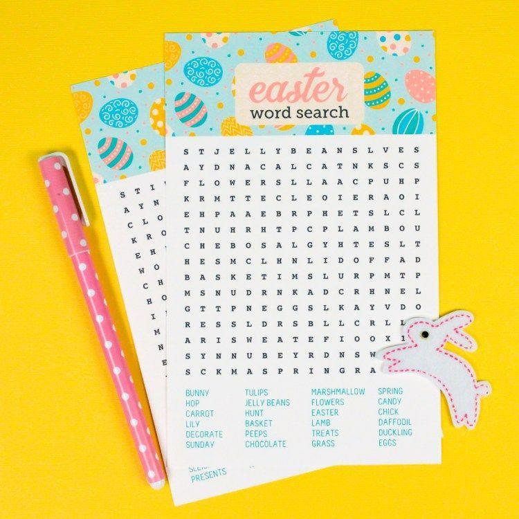 """<p>Hunting for the right letters can be just as thrilling as hunting for eggs, right? If you really want to go the extra mile, you can make your own word search that somehow contains clues to the locations of the hidden eggs. Or, you can download this one and make it one of the found prizes.</p><p><em><a href=""""https://heyletsmakestuff.com/printable-easter-word-search/"""" rel=""""nofollow noopener"""" target=""""_blank"""" data-ylk=""""slk:Get the free printable word search from Hey Let's Make Stuff »"""" class=""""link rapid-noclick-resp"""">Get the free printable word search from Hey Let's Make Stuff »</a></em></p>"""