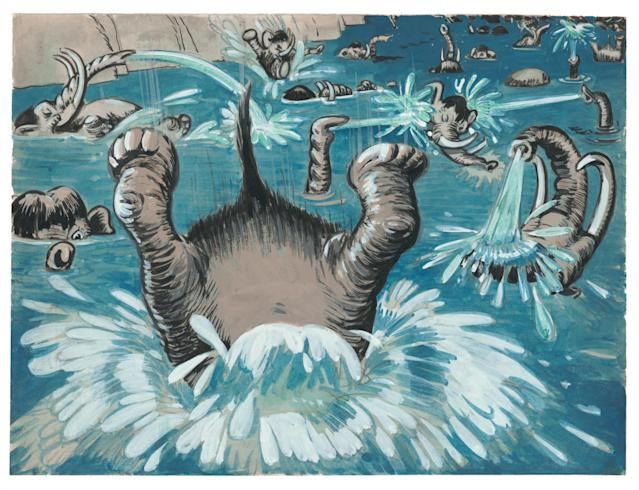 <p>Bodrero's stunning pieces range from sketches and black-and-white studies to lively colorful renderings.<br>(Credit:James Bodrero/Disney/Chronicle Books) </p>