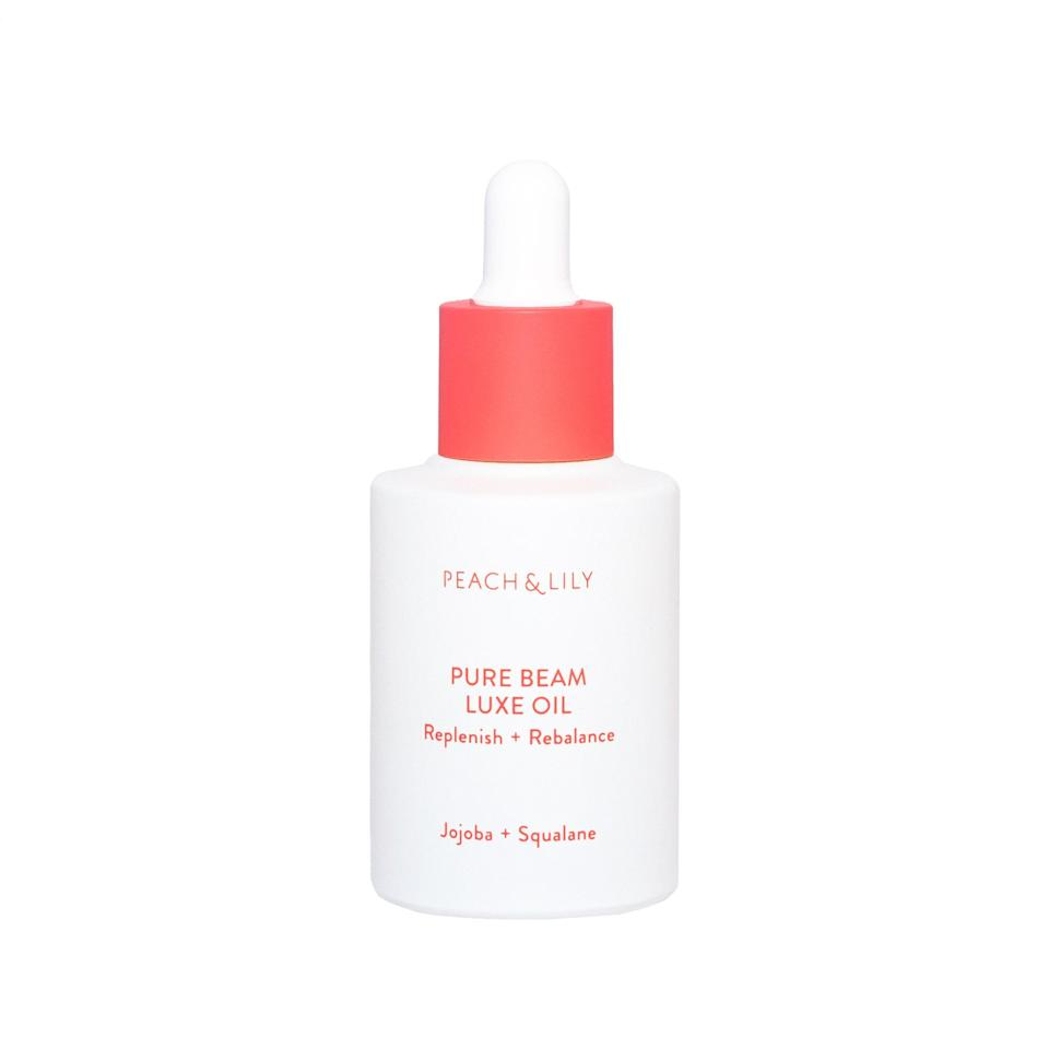 "<p>K-beauty brand Peach & Lily's Pure Beam Luxe Oil features an impressive blend of squalane, jojoba, camellia, grapeseed, and sea buckthorn oils, yet it clocks in at a relatively affordable $39. No wonder they can't keep the stuff in stock.</p> <p><strong>$39</strong> (<a href=""https://shop-links.co/1661979251468726378"" rel=""nofollow noopener"" target=""_blank"" data-ylk=""slk:Shop Now"" class=""link rapid-noclick-resp"">Shop Now</a>)</p>"