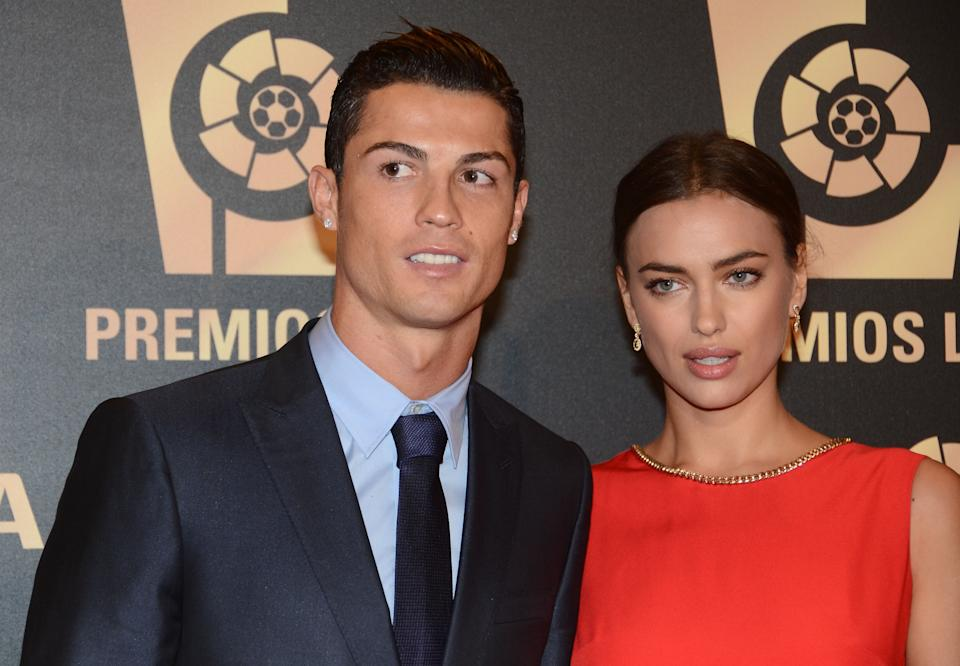 MADRID, SPAIN - OCTOBER 27:  Cristiano Ronaldo and Irina Shayk attend the LFP (Professional Football League) Awards Gala 2014 on October 27, 2014 in Madrid, Spain.  (Photo by Europa Press/Europa Press via Getty Images)