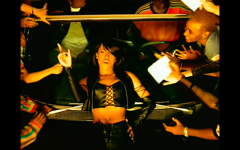 """<cite class=""""credit"""">Screenshot/Youtube. """"One In A Million"""" music video, Aaliyah.</cite>"""