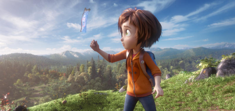 "This image released by Paramount Animation shows June, voiced by Sofia Mali, in a scene from the animated film ""Wonder Park."" (Paramount Animation via AP)"