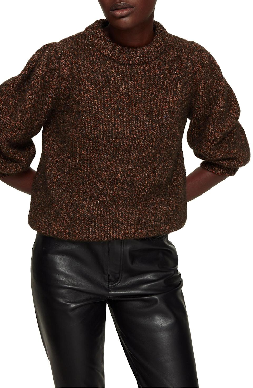 <p>This <span>Anine Bing Rosalind Alpaca Blend Sweater</span> ($349) is a great day-to-night piece.</p>
