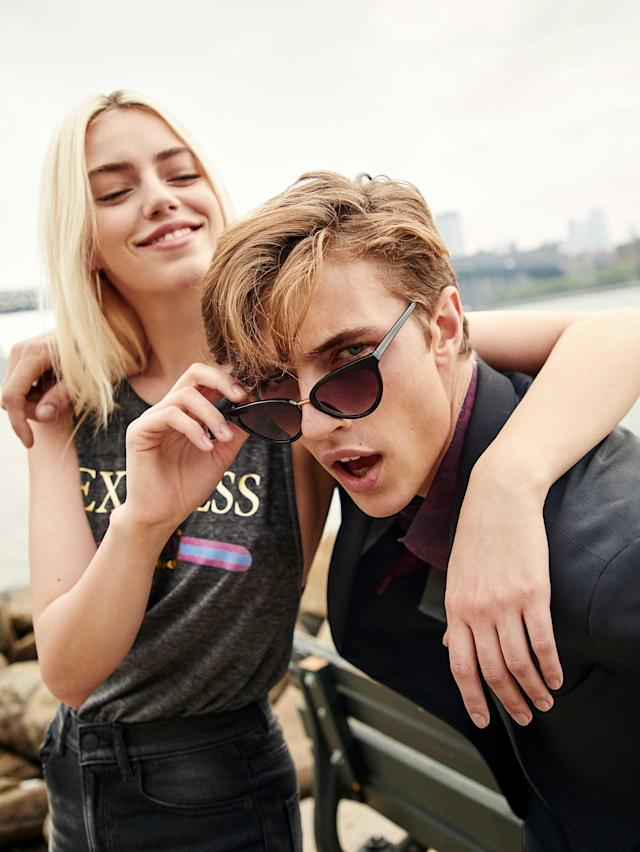 Pyper America and Lucky Blue Smith for Express. (Photo: Courtesy of Express)