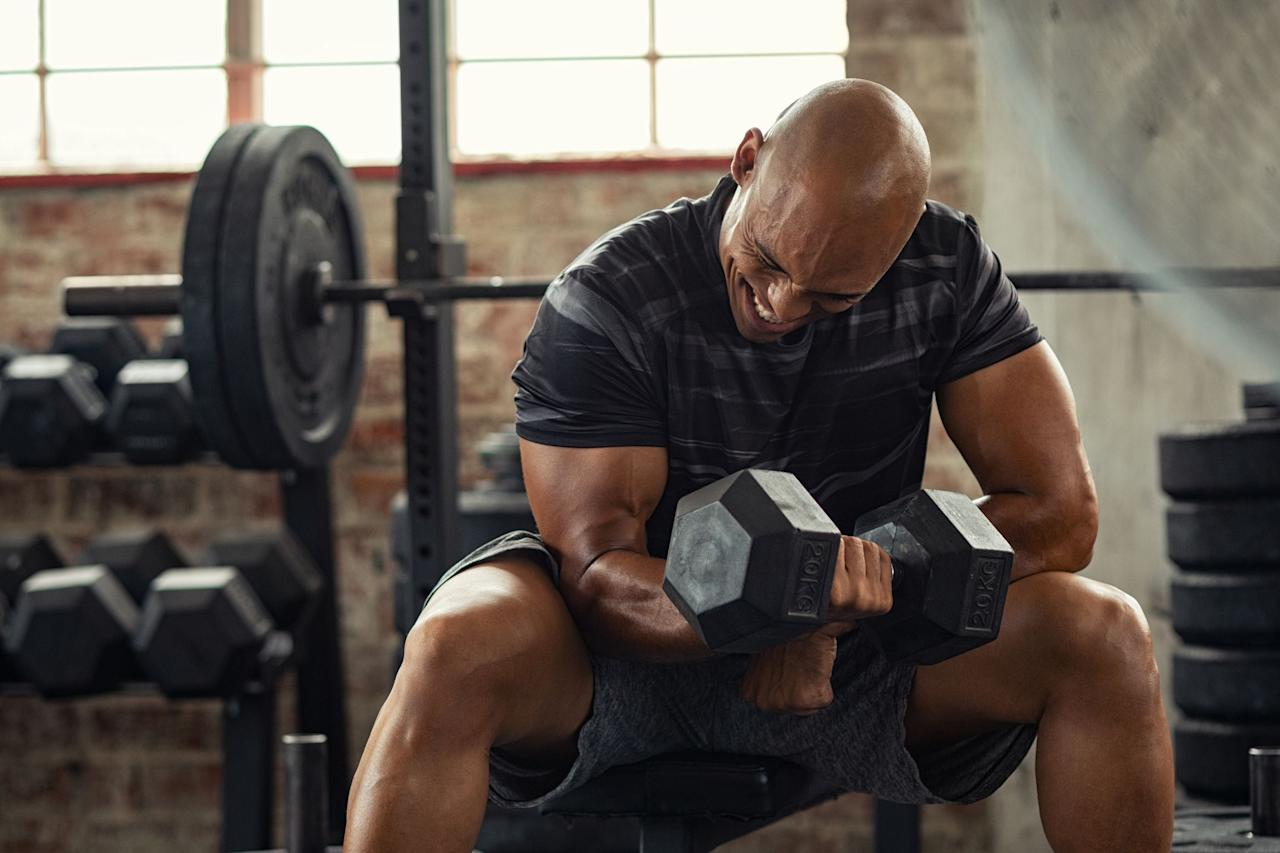 """<p>Not all resolutions have to be worthy. This is the year you'll finally win the <a href=""""https://www.menshealth.com/uk/health/g30268730/dumbbell-workouts-metabolic-bro-sesh/"""" target=""""_blank"""">arms</a> race, thanks to trainer, fitness model and possessor of very sizeable guns <a href=""""http://www.instagram.com/shaunstafford"""" target=""""_blank"""">Shaun Stafford</a>. """"Switch your focus from your biceps to your triceps,"""" says Stafford. """"The backs of your arms make up 60% of the total musculature."""" Add these moves to your existing <a href=""""https://www.menshealth.com/uk/workouts/g30414677/workout-fast-muscle/"""" target=""""_blank"""">upper-body</a> programme to test as many fibres as possible. Let's get sleeve-poppin'.</p>"""