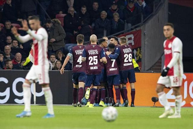 Mike Tresor Ndayishimiye converted a first-half penalty as Willem II went on to beat Ajax in Amsterdam (AFP Photo/-)