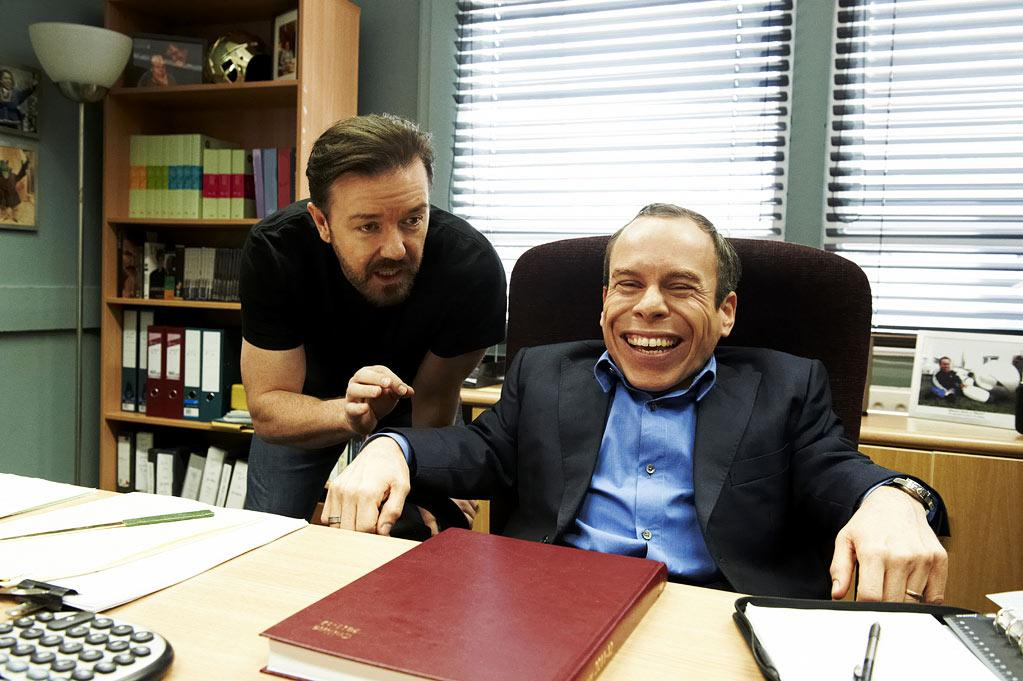 """Ricky Gervais and Warwick Davies in """"Life's Too Short."""""""