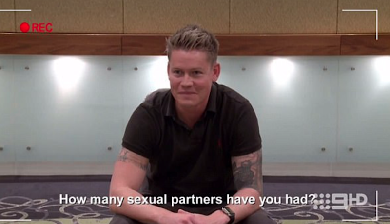 Sean in his Married At First Sight casting video. Source: Nine