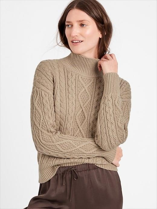 <p><span>Banana Republic Cable-Knit Cropped Sweater</span> ($110, plus 50 percent off)</p>