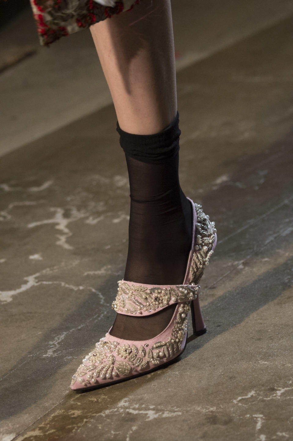 <p><i>Embellished Mary Jane heels from the SS18 Erdem collection. (Photo: ImaxTree) </i></p>