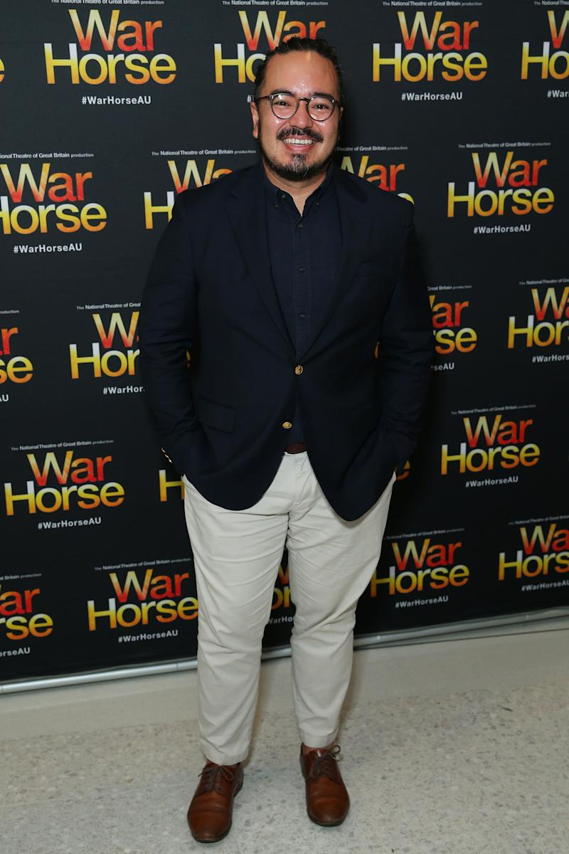 Former MasterChef winner Adam Liaw pictured at the opening night of War House at Lyric Theatre, Star City on February 18, 2020 in Sydney, Australia. (Photo: Don Arnold via Getty Images)
