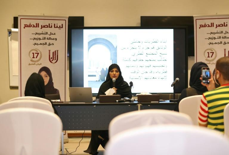 Candidate Leena al-Dafa listed her priorities as promoting women's education and winning the right for Qatari women to give citizenship to their children (AFP/-)