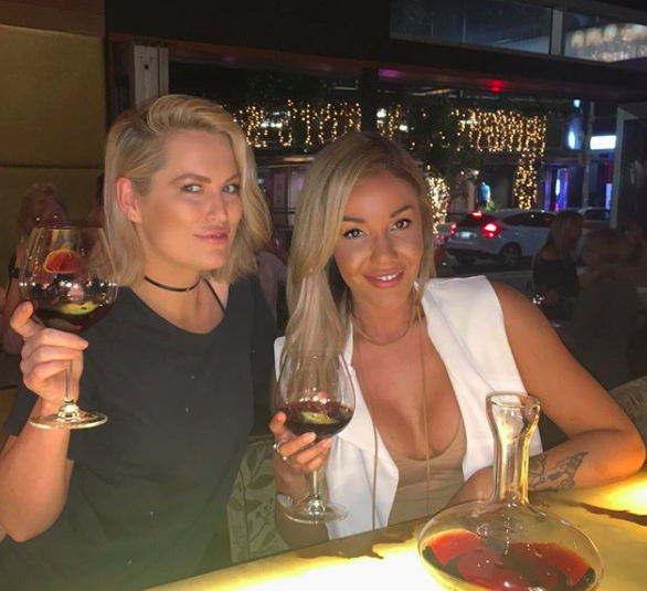 Davina and Keira go way back and seem to enjoy girly catch ups over a glass of red wine. Source: Instagram / @davvyxx