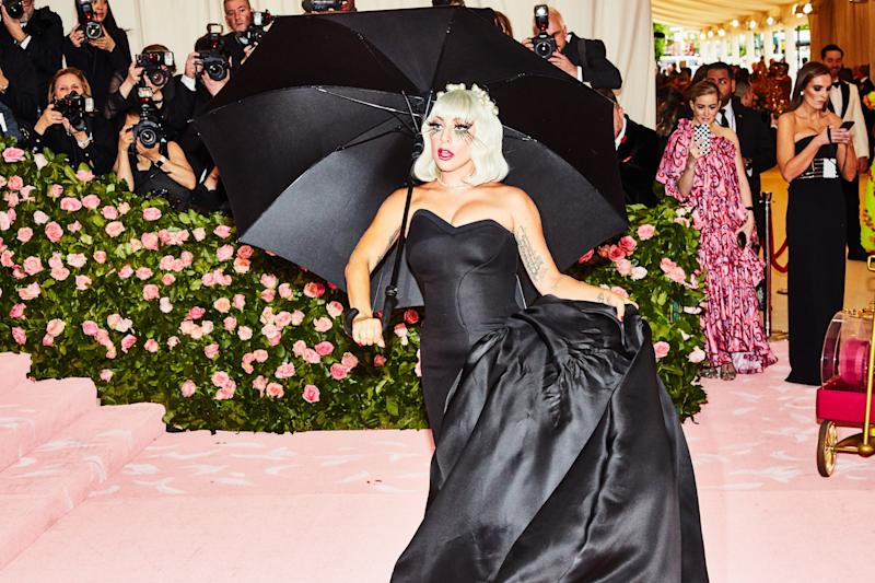 Lady Gaga on the red carpet at the Met Gala in New York City on Monday, May 6th, 2019. Photograph by Amy Lombard for W Magazine.