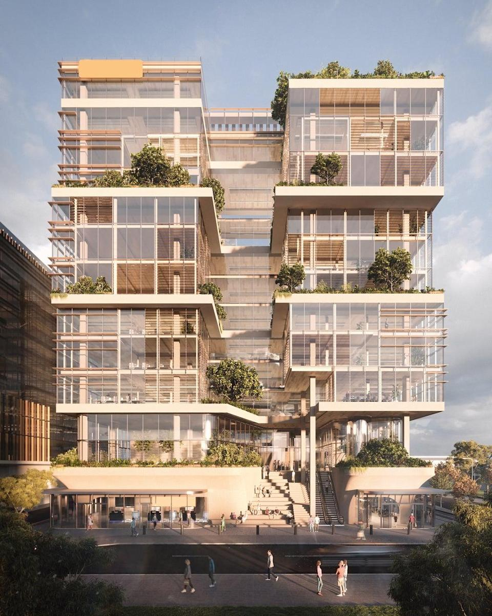 Woods Bagot is designing an office in Perth, Australia which incorporates timber into its structure (Woods Bagot)