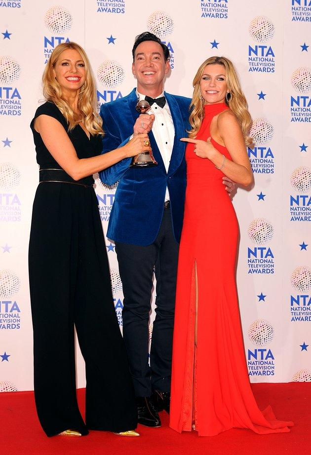 Tess, Craig and 2013 'Strictly' champ Abbey Clancy.