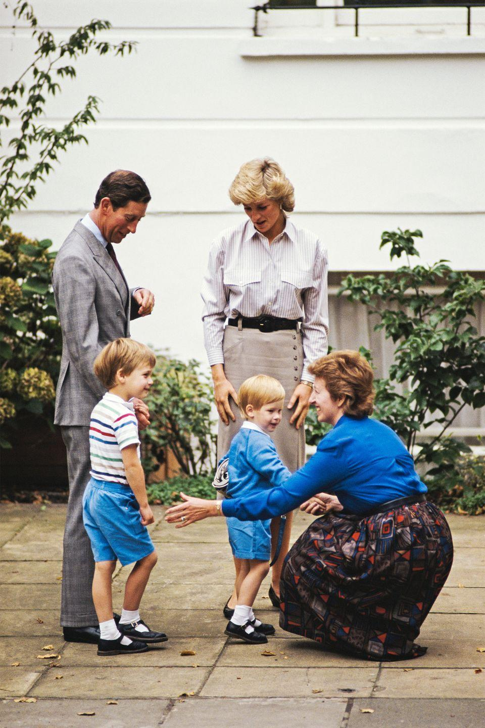 <p>Prince Harry attends his first day of school with the rest of his family. </p>