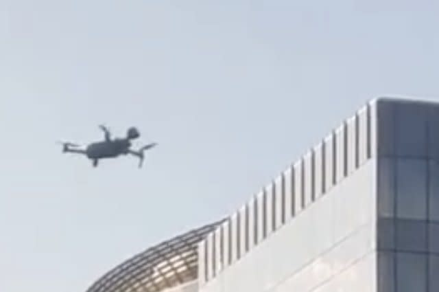 Drone in Brussels park